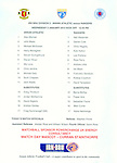 Official teamsheet for Annan Athletic v Rangers 2nd January 2013