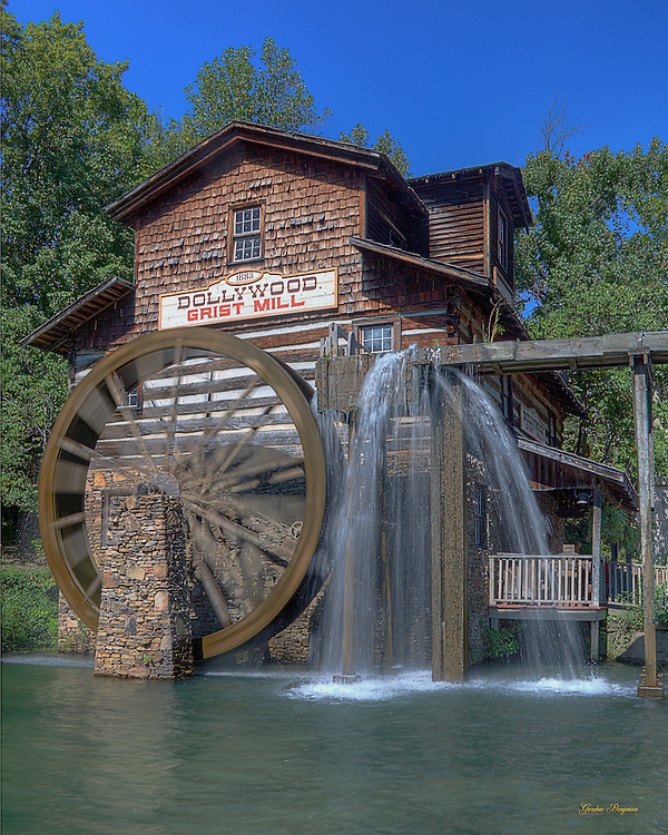 The mill at Dollywood theme park, Pigeon Forge, TN. 3-exposure HDR image.