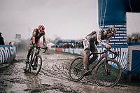 Tom Meeusen (BEL/Corendon-Circus) & Yannick Peeters (BEL/Pauwels Sauzen-Vastgoedservice)<br /> <br /> Elite Men's Race<br /> Belgian National CX Championschips<br /> Kruibeke 2019