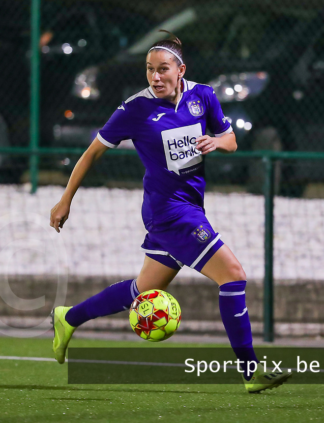 20190920 – LEUVEN, BELGIUM : RSC Anderlecht's  Laura-Roxana Rus is pictured during a women soccer game between Dames Oud Heverlee Leuven A and RSC Anderlecht Ladies on the fourth matchday of the Belgian Superleague season 2019-2020 , the Belgian women's football  top division , friday 20 th September 2019 at the Stadion Oud-Heverlee Korbeekdam in Oud Heverlee  , Belgium  .  PHOTO SPORTPIX.BE | SEVIL OKTEM