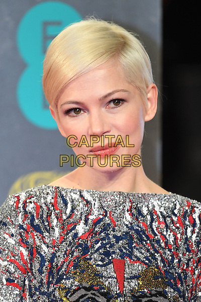 LONDON, ENGLAND - FEBRUARY 12: Michelle Williams attends the 70th EE British Academy Film Awards (BAFTA) at Royal Albert Hall on February 12, 2017 in London, England.<br /> CAP/BEL<br /> &copy;BEL/Capital Pictures