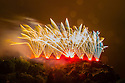 The Virgin Money Fireworks concludes the Edinburgh International Festival 2013. The Scottish Chamber Orchestra play Mussorgsky's PICTURES AT AN EXHIBITION  to accompany the pyrotechnics. Photograph © Jane Hobson.