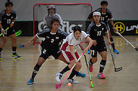 Japan&rsquo;s Shiho Morinaga in action during the World Floorball Championships 2017 Qualification for Asia Oceania Region - Japan v Thailand at ASB Sports Centre , Wellington, New Zealand on Saturday 4 February 2017.<br /> Photo by Masanori Udagawa<br /> www.photowellington.photoshelter.com.