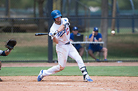 AZL Dodgers right fielder Jon Littell (27) at bat during an Arizona League game against the AZL Padres 2 at Camelback Ranch on July 4, 2018 in Glendale, Arizona. The AZL Dodgers defeated the AZL Padres 2 9-8. (Zachary Lucy/Four Seam Images)