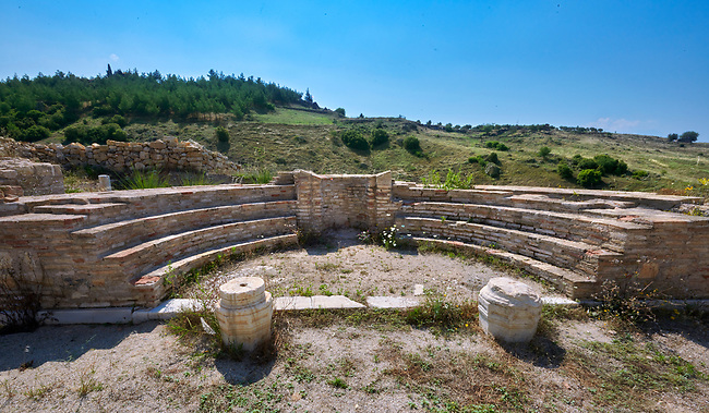 The Church of the Sepulchre with three naves was built around a Roman age tomb of St Philip, ist century AD. Hierapolis archaeological site near Pamukkale in Turkey.