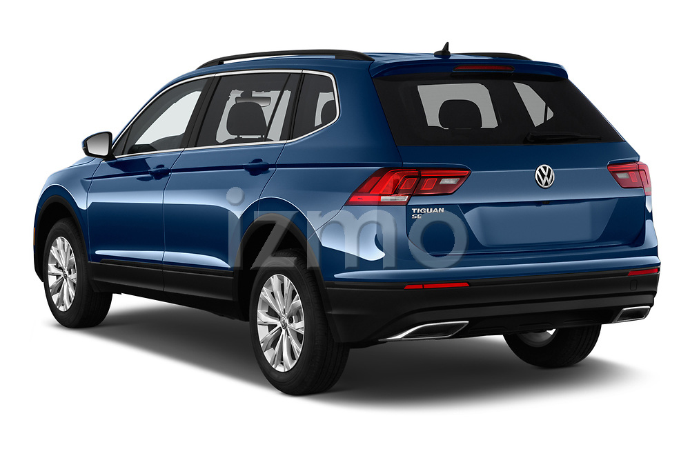 Car pictures of rear three quarter view of a 2019 Volkswagen Tiguan SE 5 Door SUV angular rear