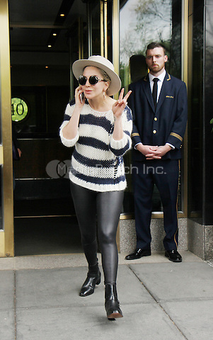 NEW YORK, NY - MAY 10: Lady Gaga seen leaving her apartment in New York City on May 10, 2016. Credit: RW/MediaPunch