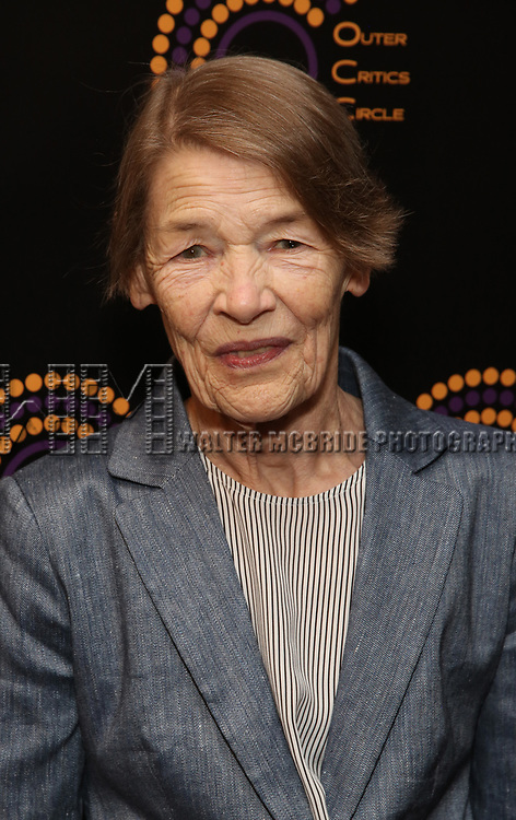 Glenda Jackson attends the 2018 Outer Critics Circle Theatre Awards at Sardi's on May 24, 2018 in New York City.