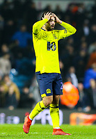 Blackburn Rovers' Bradley Dack reacts after Leeds United equalised in injury time<br /> <br /> Photographer Alex Dodd/CameraSport<br /> <br /> The EFL Sky Bet Championship - Leeds United v Blackburn Rovers - Wednesday 26th December 2018 - Elland Road - Leeds<br /> <br /> World Copyright &copy; 2018 CameraSport. All rights reserved. 43 Linden Ave. Countesthorpe. Leicester. England. LE8 5PG - Tel: +44 (0) 116 277 4147 - admin@camerasport.com - www.camerasport.com