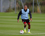 Leon Clarke of Sheffield Utd during the Sheffield Utd training session at the Shirebrook training complex, Sheffield. Picture date: 2nd September 2016. Picture Simon Bellis/Sportimage