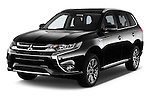 2016 Mitsubishi Outlander Phev PHEV 5 Door Suv Angular Front stock photos of front three quarter view