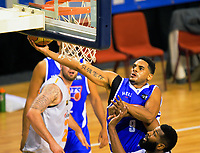 Corey Webster lays a shot up during the national basketball league match between Wellington Saints and Taylor Hawks at TSB Bank Arena in Wellington, New Zealand on Friday, 17 March 2017. Photo: Dave Lintott / lintottphoto.co.nz