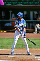 Cody Thomas (46) of the Ogden Raptors at bat against the Helena Brewers in Pioneer League action at Lindquist Field on July 16, 2016 in Ogden, Utah. Ogden defeated Helena 5-4. (Stephen Smith/Four Seam Images)