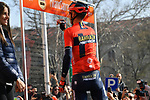 Vincenzo Nibali (ITA) Bahrain-Merida at sign on in Fortezza Medicea before the start of the 110th edition of Milan-San Remo 2019 running 291km from Milan to San Remo, Italy. 23rd March 2019.<br /> Picture: LaPresse/Gian Matteo D'Alberto | Cyclefile<br /> <br /> <br /> All photos usage must carry mandatory copyright credit (© Cyclefile | LaPresse/Gian Matteo D'Alberto)