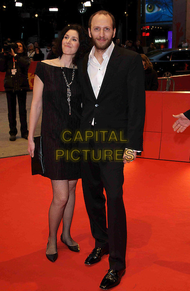"NATASCHA FALORNI & LUIGI FALORNI .Premiere of ""Feuerherz"",.Berlin Film Festival,  Berlin, Germany, 14th February 2008..full length black dress.CAP/PPG.?Jens Hartmann/People PIcture/Capital Pictures"