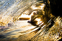 Golden Wave at the Wedge in Newport Beach