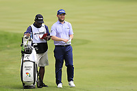 Branden Grace (RSA) and caddy Zack on the 1st hole during Sunday's Final Round of the WGC Bridgestone Invitational 2017 held at Firestone Country Club, Akron, USA. 6th August 2017.<br /> Picture: Eoin Clarke | Golffile<br /> <br /> <br /> All photos usage must carry mandatory copyright credit (&copy; Golffile | Eoin Clarke)