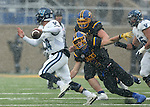 BROOKINGS, SD - DECEMBER 3:  Zach Bednarczyk #14 from Villanova scampers away from Christian Rozeboom #2 from South Dakota State during their second round playoff game Saturday afternoon at Dana J. Dykhouse Stadium in Brookings, SD. (Photo by Dave Eggen/Inertia)