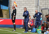 England Head Coach Keith Downing during the International match between England U19 and Netherlands U19 at New Bucks Head, Telford, England on 1 September 2016. Photo by Andy Rowland.