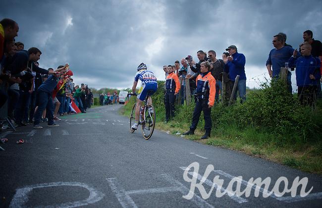 Floris De Tier (BEL/Topsport Vlaanderen-Baloise) fighting his way up La Redoute (1650m/9.7%) <br /> <br /> 101th Liège-Bastogne-Liège 2015