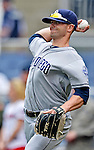 15 May 2012: San Diego Padres infielder Andy Parrino warms up prior to facing the Washington Nationals at Nationals Park in Washington, DC. The Padres defeated the Nationals 6-1 to split their 2-game series. Mandatory Credit: Ed Wolfstein Photo