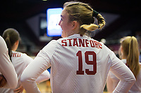 STANFORD, CA - December 1, 2017: Alexis Froistad at Maples Pavilion. The Stanford Cardinal defeated the CSU Bakersfield Roadrunners 3-0 in the first round of the NCAA tournament.