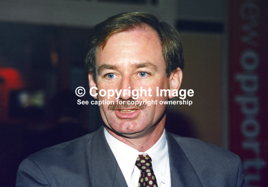 Geoff Hoon, MP, Labour Party, UK, 19961013GH.<br /> <br /> <br /> Copyright Image from Victor Patterson,<br /> 54 Dorchester Park, <br /> Belfast, UK, BT9 6RJ<br /> <br /> t1: +44 28 9066 1296 (from Rep of Ireland 048 9066 1296)<br /> t2: +44 28 9002 2446 (from Rep of Ireland 048 9002 2446)<br /> <br /> m: +44 7802 353836<br /> <br /> e: victorpatterson@me.com<br /> www.victorpatterson.com<br /> <br /> Please see my Terms and Conditions of Use at www.victorpatterson.com. It is IMPORTANT that you familiarise yourself with them.<br /> <br /> Images used on the Internet must be visibly watermarked i.e. &copy; Victor Patterson<br /> within the body of the image and copyright metadata must not be deleted. Images <br /> used on the Internet have a size restriction of 4kbs and will be chargeable at current<br />  NUJ rates unless agreed otherwise.<br /> <br /> This image is only available for the use of the download recipient i.e. television station, newspaper, magazine, book publisher, etc, and must not be passed on to any third <br /> party. It is also downloaded on condition that each and every usage is notified within 7 days to victorpatterson@me.com<br /> <br /> The right of Victor Patterson to be identified as the author is asserted in accordance with The Copyright Designs And Patents Act (1988). All moral rights are asserted.