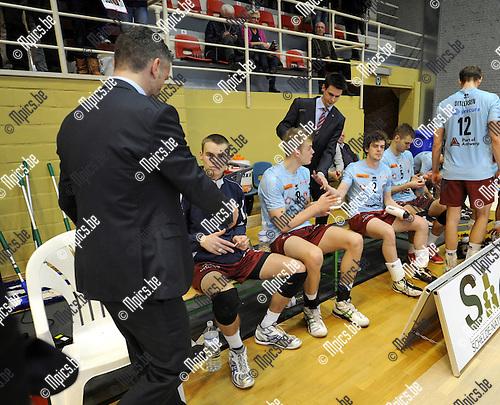 2013-12-18 / Volleybal / seizoen 2013-2014 / Antwerpen - Andreoli Latina (ITA) / Teleurstelling bij de Antwerpse spelers en coaches<br /><br />Foto: Mpics.be