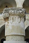 Jerusalem Old City, a column capital found in the ruins of the Byzantine Nea Church