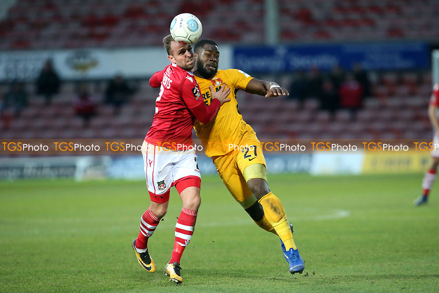 O's James ALabi & Kevin ROberts during Wrexham vs Leyton Orient, Buildbase FA Trophy Football at the Racecourse Ground on 12th January 2019
