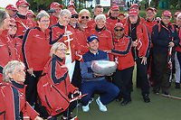 Bernd Wiesberger (AUT) poses with the trophy and volunteers after the final round of the Made in Denmark presented by Freja, played at Himmerland Golf & Spa Resort, Aalborg, Denmark. 26/05/2019<br /> Picture: Golffile | Phil Inglis<br /> <br /> <br /> All photo usage must carry mandatory copyright credit (© Golffile | Phil Inglis)