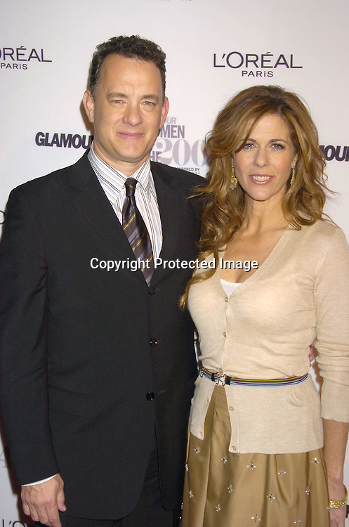 Tom Hanks and wife Rita Wilson ..at The 15th Annual Glamour Magazine Women of the Year Awards on November 8, 2004 at The American Museum  of Natural History in New York City. ..Photo by Robin Platzer, Twin Images