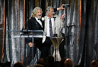 ASC Board of Governors Award honoree Jeff Bridges, left, uses a Widelux panoramic camera to take a photo himself and his stand in and stunt double presenter Loyd Catlett after accepting his award at the 33rd annual ASC Awards and The American Society of Cinematographers 100th Anniversary Celebration at the Ray Dolby Ballroom at Hollywood &amp; Highland, Saturday, February 9, 2019 in Hollywood, California.      <br /> CAP/MPI/IS<br /> &copy;IS/MPI/Capital Pictures