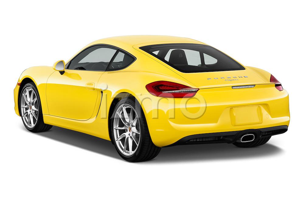 Rear three quarter view of a 2014 Porsche Caymen Coupe