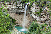 Gorgeous Fairmont Hot Springs waterfall has a natural pool which can be enjoyed by visitors
