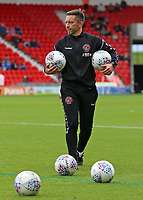 Fleetwood Town First Team Coach Barry Nicholson during the pre-match warm-up <br /> <br /> Photographer David Shipman/CameraSport<br /> <br /> The EFL Sky Bet League One - Doncaster Rovers v Fleetwood Town - Saturday 6th October 2018 - Keepmoat Stadium - Doncaster<br /> <br /> World Copyright © 2018 CameraSport. All rights reserved. 43 Linden Ave. Countesthorpe. Leicester. England. LE8 5PG - Tel: +44 (0) 116 277 4147 - admin@camerasport.com - www.camerasport.com