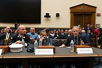 First responders, along with Jon Stewart, testify at a hearing on the 9-11 Victims fund before the Judiciary subcommittee on Capitol Hill in Washington D.C. on June 11, 2019.<br /> <br /> Credit: Stefani Reynolds / CNP/AdMedia