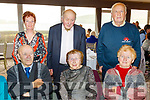 Telling stories at the Senior Citizens annual social in the Skellig hotel, Dingle, last Sunday organised by the West Kerry Care of the Aged, seated L-R Tommy&Bridie Doyle and Mary McMahon, back L-R Bridget Fitzgerald, Patie Moriarty with Eugene McMahon, all from Inch.