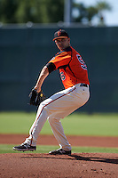 San Francisco Giants pitcher Jordan Johnson (56) during an instructional league game against the Colorado Rockies on October 7, 2015 at the Giants Baseball Complex in Scottsdale, Arizona.  (Mike Janes/Four Seam Images)
