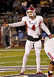 November 10, 2012:  Fresno State Bulldogs quaterback Derek Carr against the Nevada Wolf Pack during their NCAA football game played at Mackay Stadium on Saturday night in Reno, Nevada.