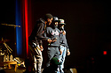MIAMI, FL - DECEMBER 15: Comedian DC Young Fly, Karlous Miller and Chico Bean perform on stage during the 85 South improvs roasting and freestyles comedy show at James L. Knight Center on December 15, 2019 in Miami, Florida.  ( Photo by Johnny Louis / jlnphotography.com )