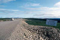 Emergency Airstrip on Dempster Highway (Hwy 8), NWT, Northwest Territories, Arctic Canada