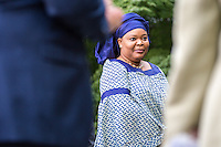 NEW YORK CITY, UNITED STATES SEPTEMBER 16, 2016: Novel Peace Prize Leymah Gbowee after the Peace Bell Ceremony as a commemoration of the International Day of Peace at the United Nations in New York. Photo by VIEWpress/Maite H. Mateo