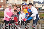 FAMILY: Pat O'Connor (Cyclist) being wished the best of luck in the Lacey Cup Cycling Race on Sunday by his family, l-r: Cis O'Connor, Ann Lynch O'Connor, Mark O'Connor, Holly Lynch O'Connor, Emma O'Connor and Patricia O'Connor..