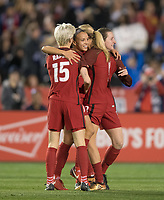 San Diego, Ca - Sunday, January 21, 2018: Megan Rapinoe Mallory Pugh Andi Sullivan during a USWNT 5-1 victory over Denmark at SDCCU Stadium.