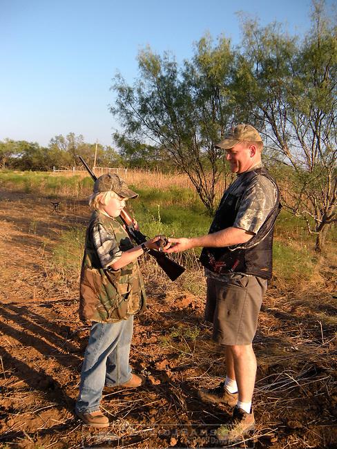 DOVE HUNT.Paloma Palooza 2010 Archer City..Chuck and Matthew Aris hunting south of Breckenridge opening weekend