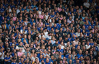Leicester City supporters during the Premier League match between Leicester City and Wolverhampton Wanderers at the King Power Stadium, Leicester, England on 10 August 2019. Photo by Andy Rowland.