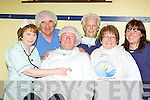 RECORD: Castleisland Town festival who are trying to break the World Record for having as many people dressed as nurses in one place in Castleisland Rugby club on the May Bank Holiday in aid of local charities, front l-r: Sheila McGuire, Charlie Farrelly, Donal Nelligan, Monica Prenderville (Castleisland Day Care Centre), Eileen Kenny (Recovery Haven) and Mary Keane (Acquired Brain Injury Ireland).