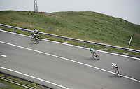 green jersey Mark Cavendish (GBR/DimensionData) descending from the highest point in the 2016 Tour; the Port d'Envalira (Cat1/2408m/22.6km at 5.5%)<br /> <br /> stage 10: Escaldes-Engordany (AND) - Revel (FR)<br /> 103rd Tour de France 2016