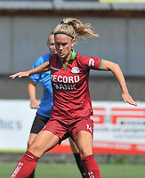 20180804 - ZULTE , BELGIUM : Zulte Waregem's Manon De Bart  pictured during a friendly soccer match between the women teams of Zulte Waregem and Bosdam Beveren  , during the preparation of the 2018-2019 season, Saturday 4 August 2018 . PHOTO DIRK VUYLSTEKE / SPORTPIX.BE